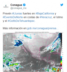 PREVÉN QUE QUINTA TORMENTA INVERNAL SE DESARROLLE ESTA SEMANA; HABRÁ DESCENSO DE TEMPERATURA
