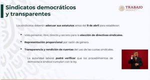 SINDICATOS DEBEN ADECUAR ESTATUTOS ANTES DEL 9 DE ABRIL, CONFORME A LA LEY LABORAL: STPS