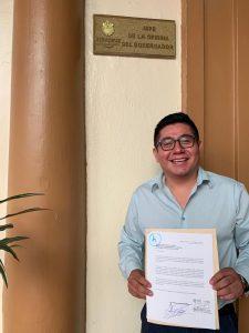 Esteban Ramírez Zepeta va por la dirigencia estatal de MORENA, ya renunció a su cargo en Gobierno del Estado.