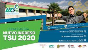 CONVOCATORIA NUEVO INGRESO 2020 TÉCNICO SUPERIOR UNIVERSITARIO