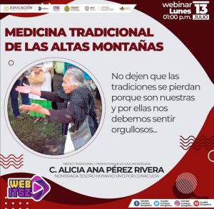 DARÁ VIDEO CONFERENCIA ALICIA PÉREZ RIVERA, NOMBRADA TESORO HUMANO VIVO POR CONACULTA.