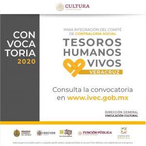 """Lanza IVEC convocatoria para integrar Comité de Contraloría Social del proyecto """"Tesoros Humanos Vivos""""."""