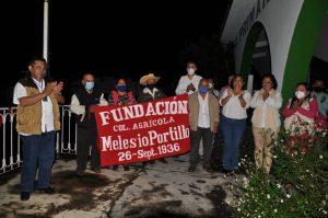 Con invitados especiales conmemoran 84 aniversario de la colonia Melesio Portillo.