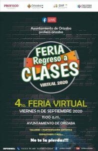 La 4ta «Feria de regreso a clases» en Orizaba, será virtual.