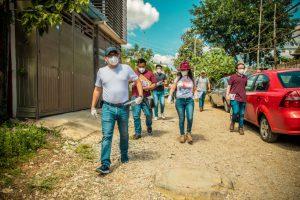 Reactiva Esteban Ramírez trabajo territorial con militantes de MORENA.
