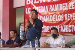 Unidos y organizados somos más fuertes; la 4T avanza firme en beneficio al pueblo: Ríos Uribe.