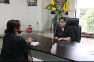 Revisan Rosalinda Galindo y titular de IVAI, el Proyecto de Presupuesto de Egresos 2021.