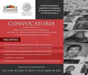Emite Congreso convocatoria para nueve vacantes en el Consejo Estatal Ciudadano.