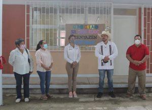 Responde SEV añeja demanda de aulas dignas en Telesecundaria de Amatitlán.
