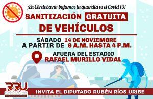 En Córdoba y la región, no le daremos tregua al Covid: Ríos Uribe.