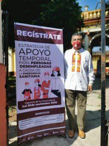 Instalan módulo para ofrecer empleo temporal a habitantes de Coatepec.
