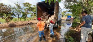Amplía gobierno del estado de Veracruz atención por lluvias en el sur y envía apoyo a Tabasco.