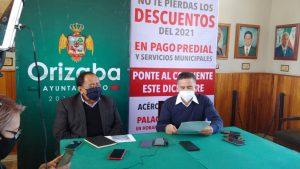 En Orizaba se podrán hacer convenios con tesorería para pago de predial.