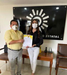 Ingrid Romero es candidata del PRD a la alcaldía de Ciudad Mendoza.