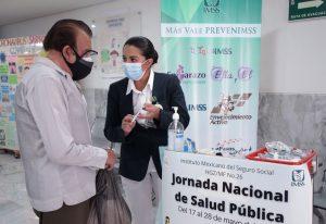Durante la Jornada Nacional de Salud Pública 2021, el IMSS intensificó acciones preventivas en sus 35 Representaciones.