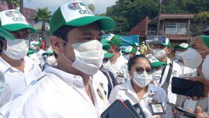 Trabajadores del sindicato de la delegación IMSS demandan vacunas.