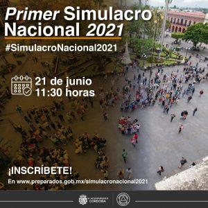 Protección Civil convoca a participar en Simulacro Nacional.
