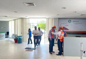 Personal del IMSS Veracruz Sur participa en Primer Simulacro Nacional 2021.