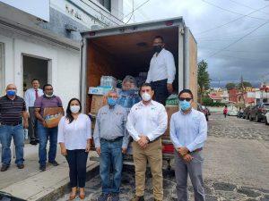 UTCV realiza entrega de víveres para veracruzanos afectados por el Huracán Grace.