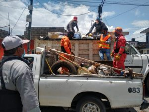 Concluyen en Orizaba la Jornada Salud y Vida con el retiro de cacharros en las viviendas.